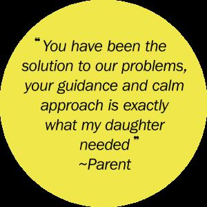 Yellow circle quote copy